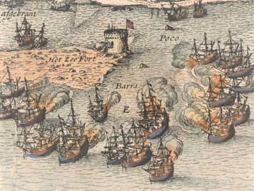 gravura holandesa de 1631 feita por Piscator